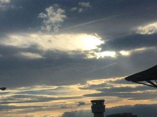仙台空港の雲