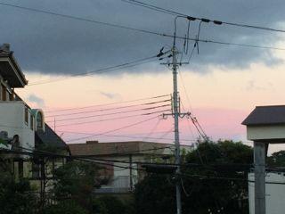 ピンク色の雲