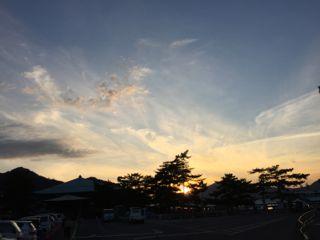 宮島の夕焼け